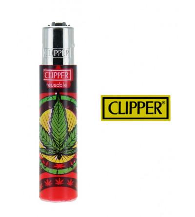 Briquet Clipper Rasta Weed '' Bob Marley ''