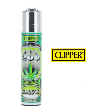 Briquet Clipper Feuille de Cannabis '' Weed ''