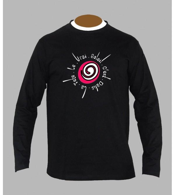 T-shirt psychédélique spirale manches longues