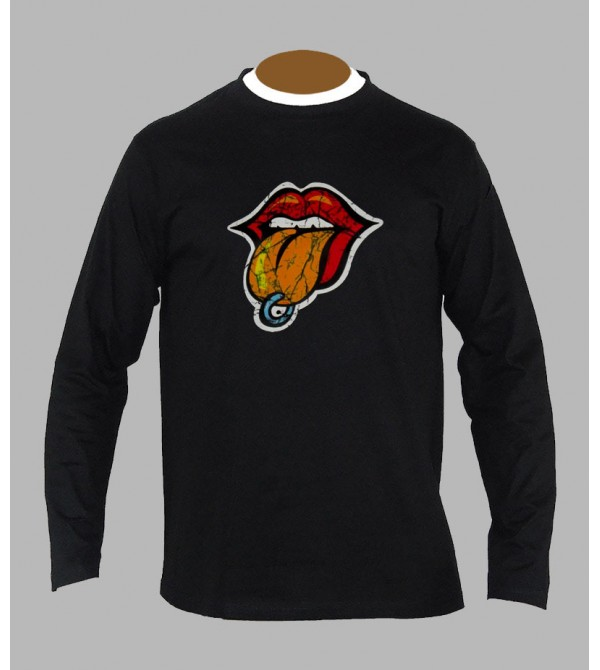 T-shirt rock rolling stones manches longues