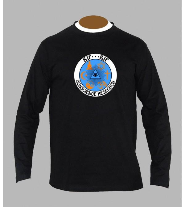 T-shirt trance '' ohm '' manches longues
