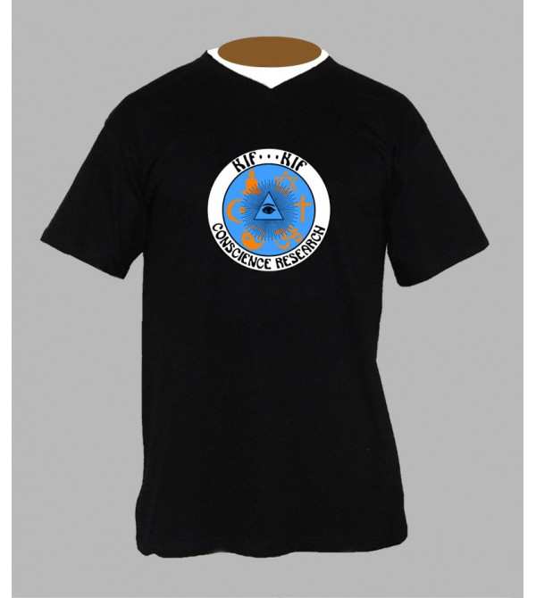T-shirt trance '' ohm '' homme Col V