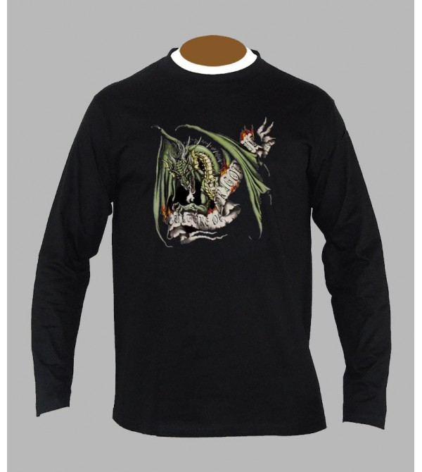 T-shirt tribal dragon manches longues