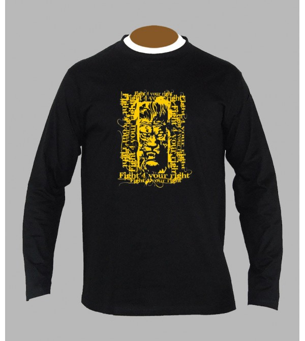 T-shirt rasta lion manches longues