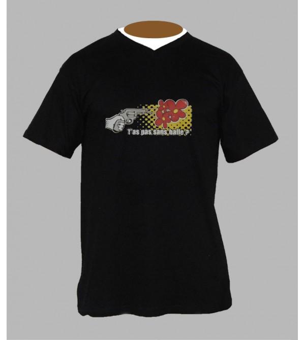 Tee shirt humoristique homme Col V