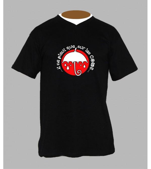 T-shirt humour breton homme Col V