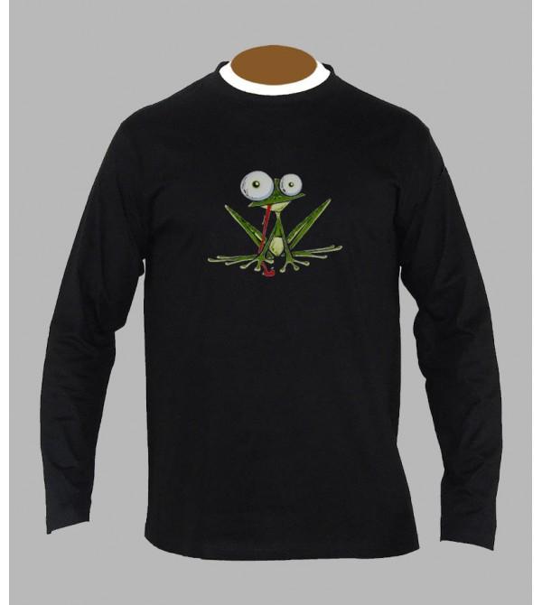 T-shirt psychédélique grenouille manches longues
