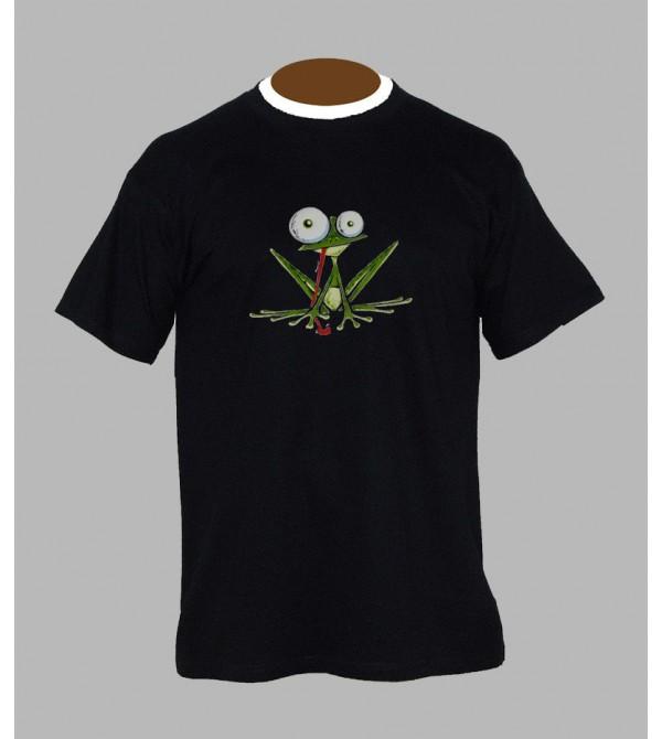 T-shirt psychédélique grenouille - Vêtement homme