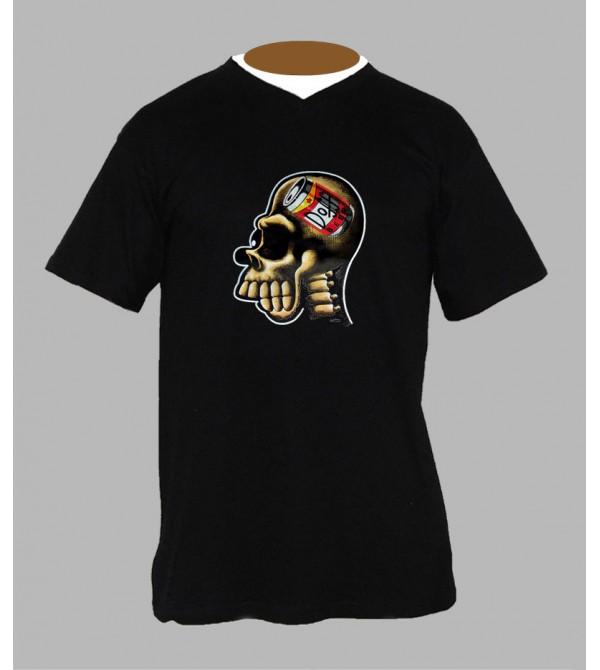 T-shirt uv homer simpson homme Col V