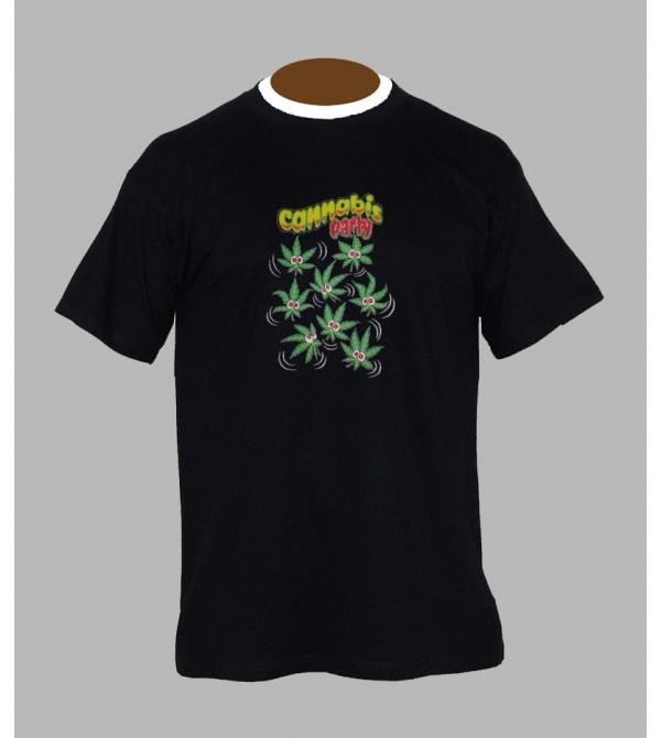 Tee shirt weed homme