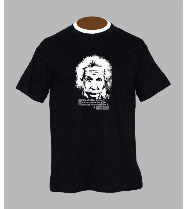 TEE SHIRT ALBERT EINSTEIN, VÊTEMENT HOMME. T-SHIRT ALBERT EINSTEIN - FRINGUE