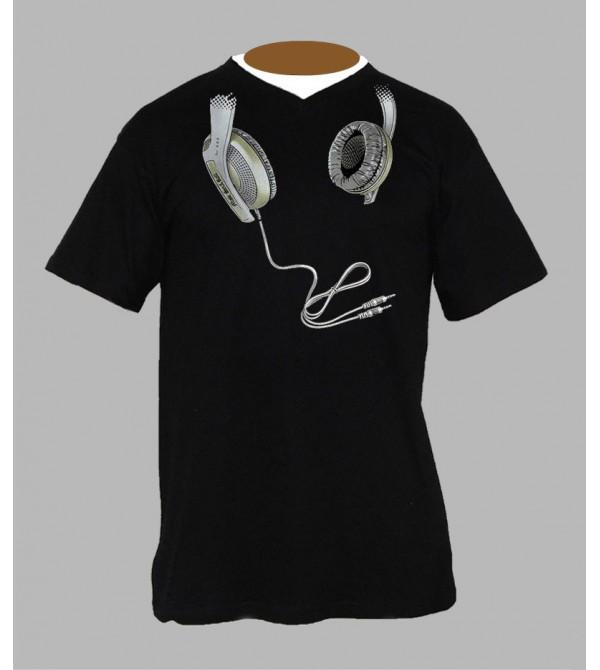 Tee shirt Dj homme Col V