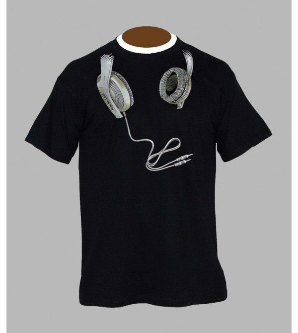 TEE SHIRT AVEC CASQUE DE DJ, VÊTEMENT HOMME. T-SHIRT CASQUE DE DJ - FRINGUE
