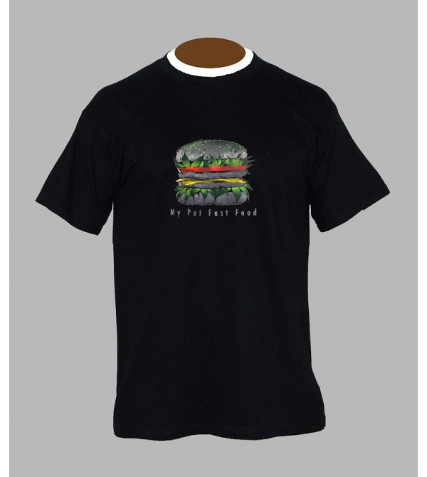 T-shirt cannabis burger - Vêtement homme
