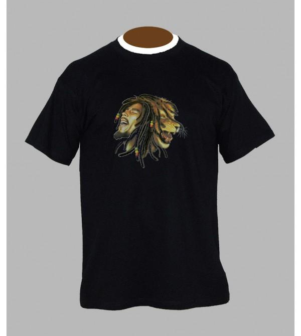 TEE SHIRT BOB MARLEY LION, VÊTEMENT HOMME. T-SHIRT LION BOB MARLEY - FRINGUE