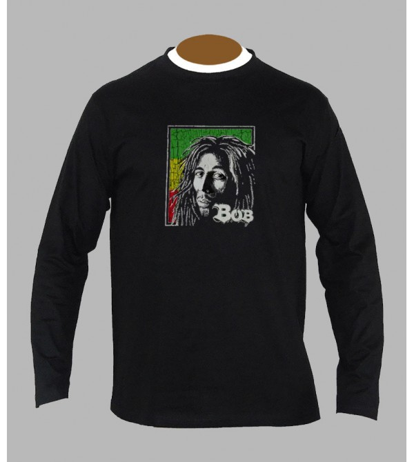 Tee shirt Bob Marley homme manches longues