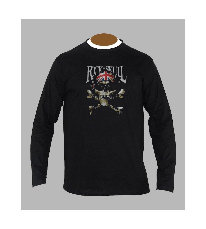 Tee Shirt Rock Tête de Mort - vente t-shirt