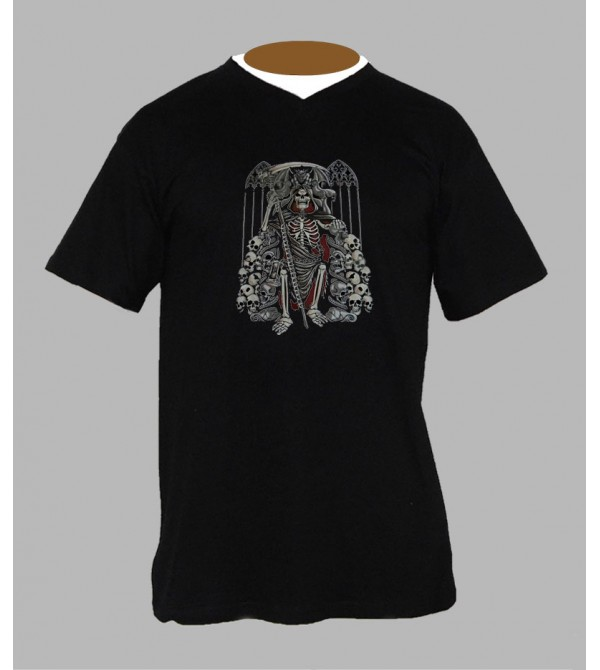 Tee shirt gothique homme Col V