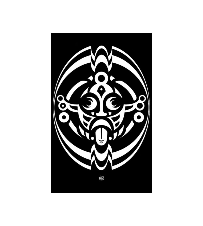 TENTURE SPIRAL TRIBE PAS CHER TENTURE MURALE - DRAPEAU SPIRAL TRIBE