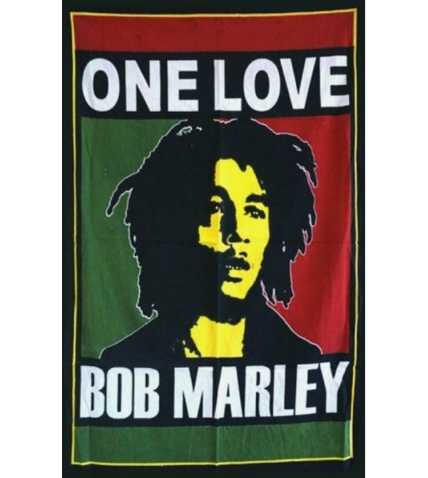 DRAPEAU BOB MARLEY ONE LOVE