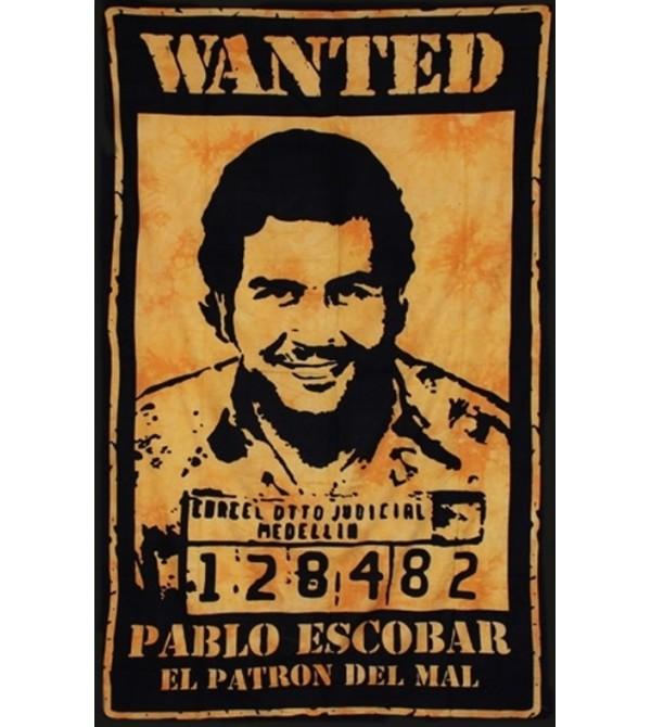 TENTURE EL PATRON  JAUNE - DRAPEAU PABLO ESCOBAR