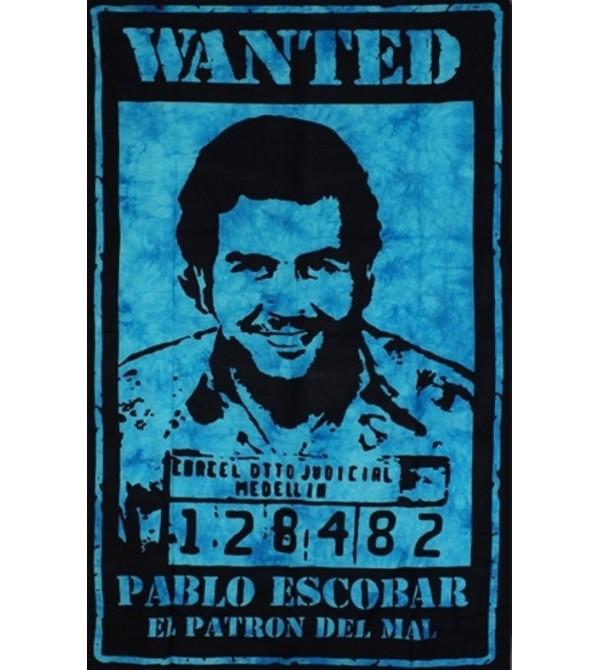 TENTURE EL PATRON TURQUOISE - DRAPEAU PABLO ESCOBAR