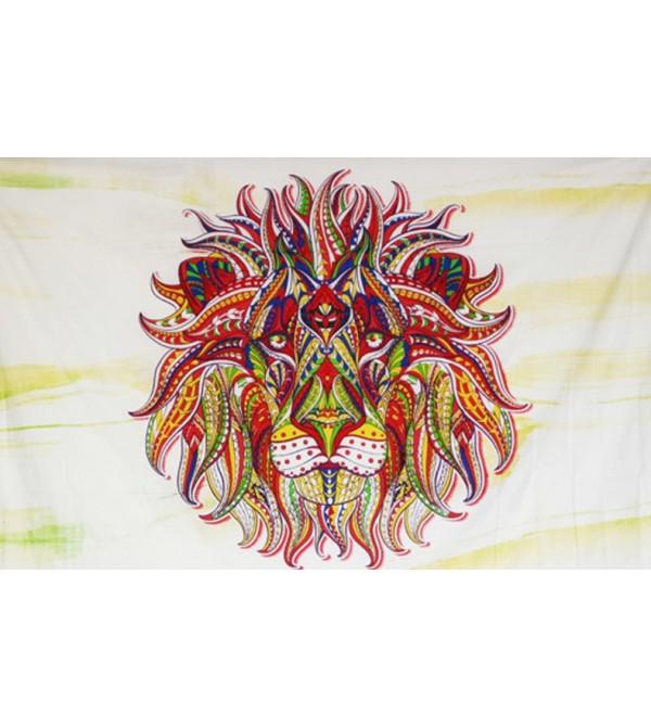 TENTURE LION - ACHETER PAS CHER TENTURE MURALE LION - DRAPEAU
