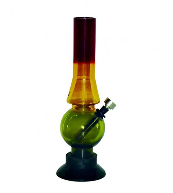 Bang acrylique rasta pipe a eau bob marley brad weed 420 bong feuille de cannabis pvc 1