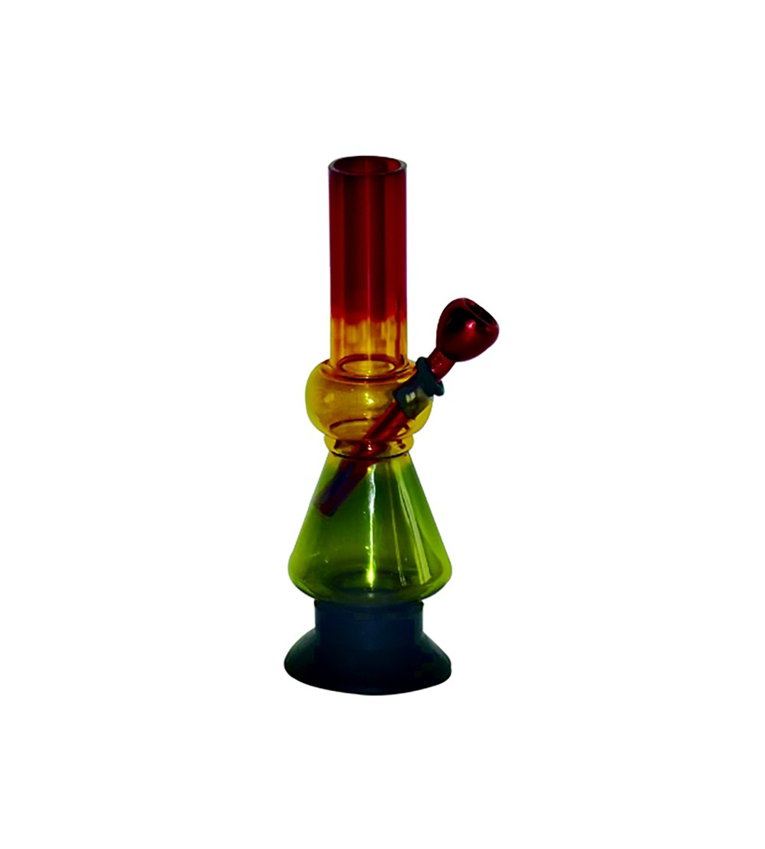 Bang acrylique rasta pipe a eau bob marley brad weed 420 bong feuille de cannabis pvc 4