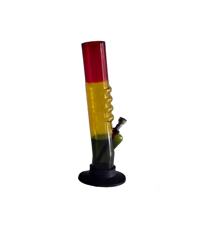 Bang acrylique rasta pipe a eau bob marley brad weed 420 bong feuille de cannabis pvc 26