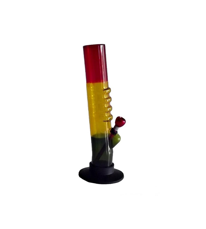 Bang acrylique rasta pipe a eau bob marley brad weed 420 bong feuille de cannabis pvc 27