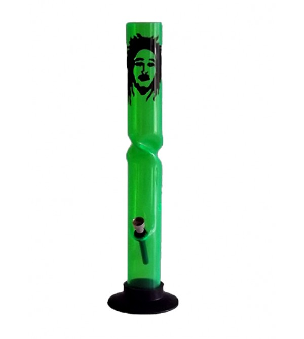 Bang acrylique rasta pipe a eau bob marley brad weed 420 bong feuille de cannabis pvc 33
