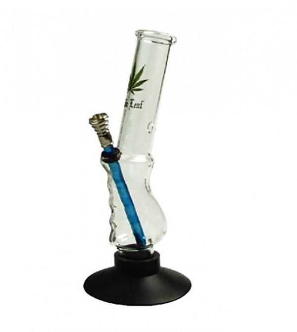 Bang verre rasta pipe a eau bob marley weed 420 bong en verre feuille de cannabis 6