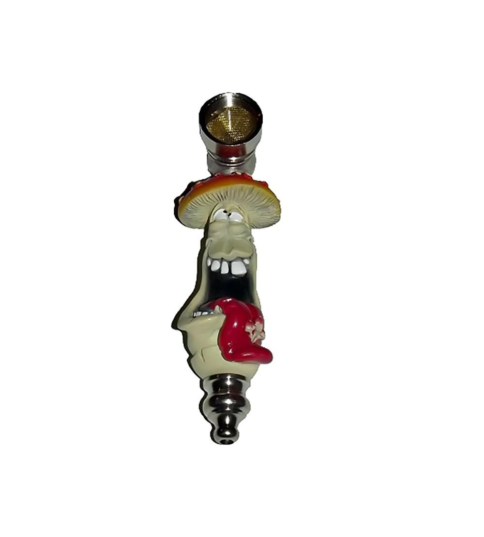 Pipe acrylique rasta bob marley pipe en verre bois métal alu champignon pas cher 3