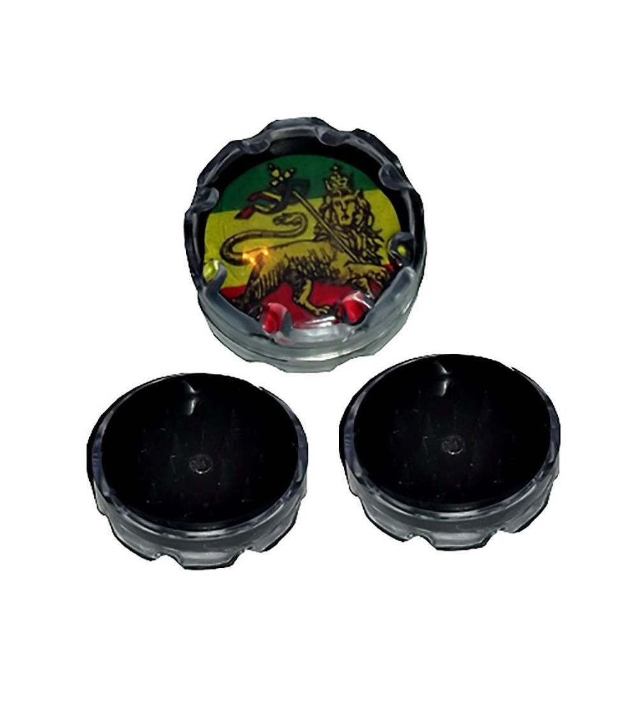 Grinder acrylique grinder acrylique weed rasta bob marley feuille de cannabis 7