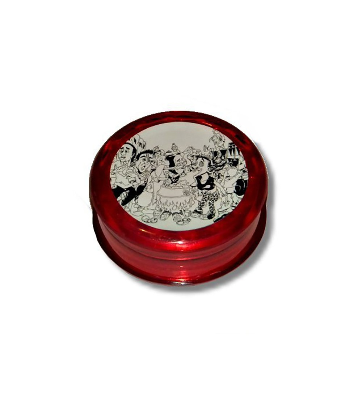 Grinder acrylique grinder acrylique weed rasta bob marley feuille de cannabis 11