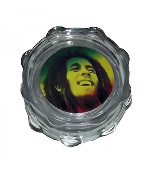 Grinder acrylique grinder acrylique weed rasta bob marley feuille de cannabis 18