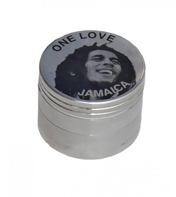 Grinder métal grinder aluminum alu weed rasta bob marley feuille de cannabis 4