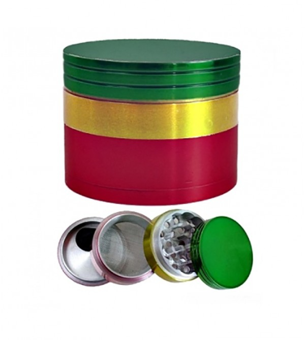 Grinder métal grinder aluminum alu weed rasta bob marley feuille de cannabis 28