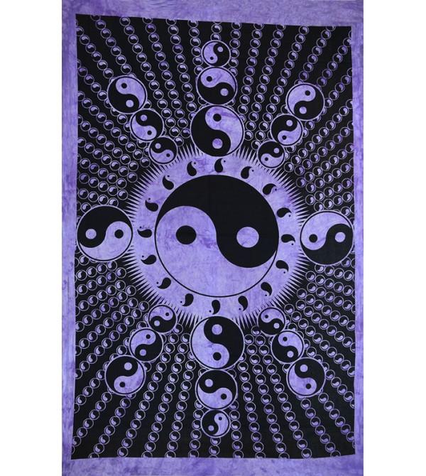 multitude d'utilisations : Décoration murale, dessus de lit ou de table. Magasin de Drapeau yin yang. Tentures
