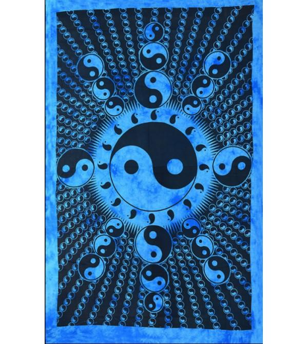 Décoration murale, tête de lit, dessus de lit ou de table. Magasin de Drapeau yin yang. Tentures