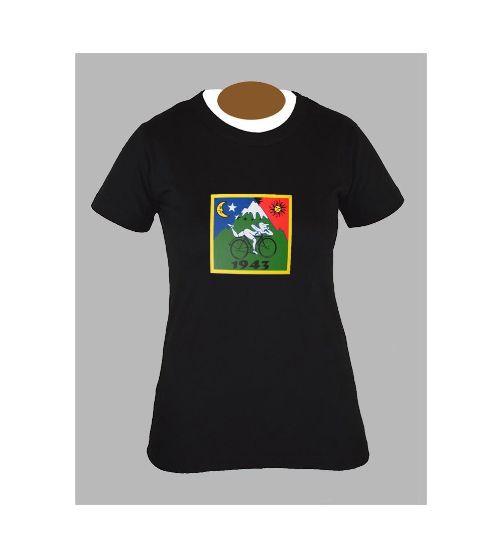 Tee shirt femme albert hoffman 1943 lsd drogue fringue vêtement 1