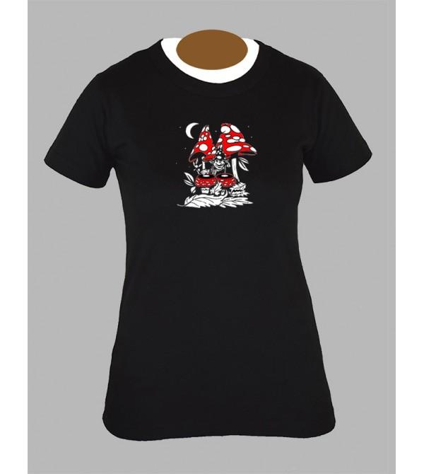 Tee shirt femme champignon avec champi mushroom fringue vetement 1
