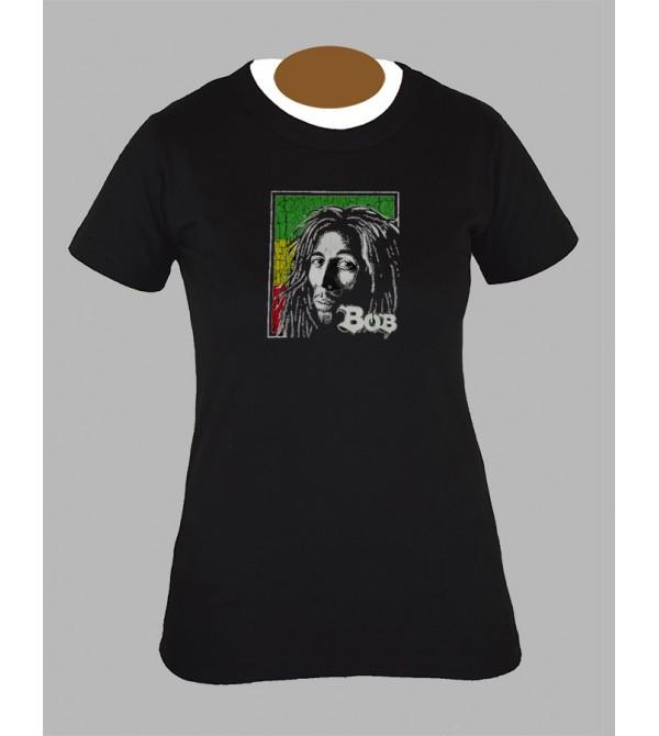 Tee shirt femme rasta bob marley feuille de cannabis weed 420 fringue vêtement 5