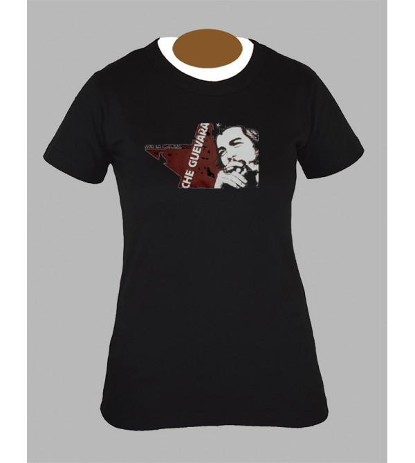 Tee shirt femme che guevara hippie baba cool fringue vetement 1