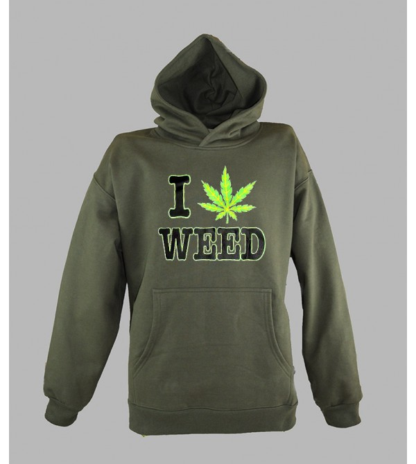 SWEAT FLUO - SWEAT WEED PAS CHER - ACHETER PULL CAPUCHE WEED FLUORESCENT - BOUTIQUE FLUO