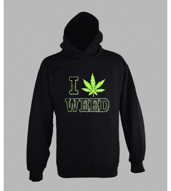 SWEAT WEED FLUO, ACHETER PAS CHER PULL CAPUCHE WEED FLUORESCENT - BOUTIQUE FLUO