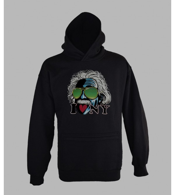 SWEAT EINSTEIN, VÊTEMENT HOMME. PULL A CAPUCHE EINSTEIN - FRINGUE