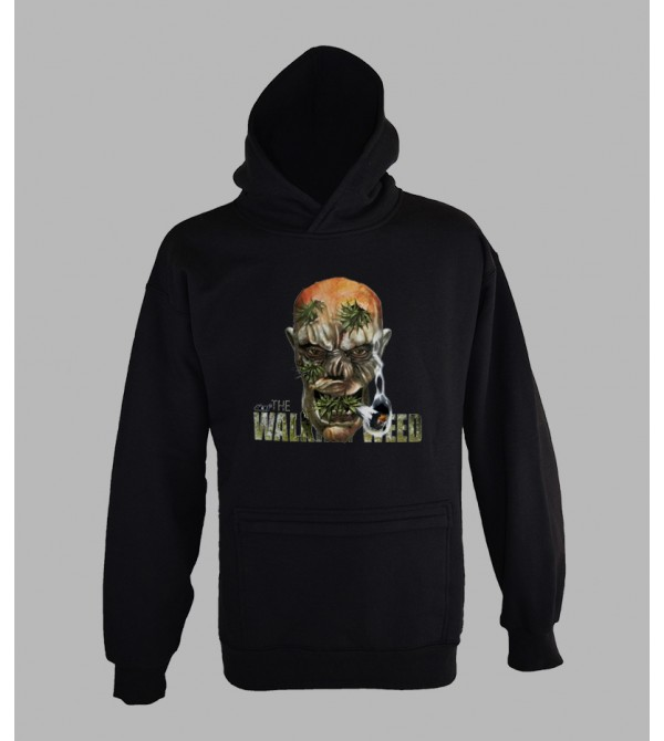 SWEAT 420 WEED WALLPAPER - VÊTEMENT HOMME. PULL A CAPUCHE 420 WEED HOMME - FRINGUE PAS CHER