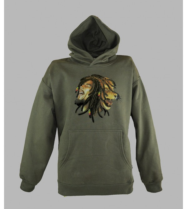 SWEAT BOB MARLEY LION PAS CHER - ACHETER PULL CAPUCHE BOB MARLEY HOMME - BOUTIQUE